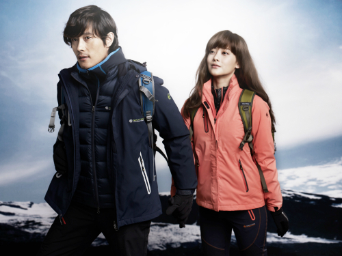 Lee Byung Hun and Oh Yeon Seo as Outdoor Models