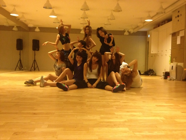 Photos From T-ara's Overnight Dance Practice Revealed