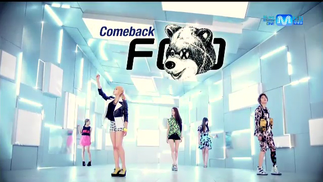 "f(x) Makes Their First Comeback Performance of ""Electric Shock"" on M!Countdown"