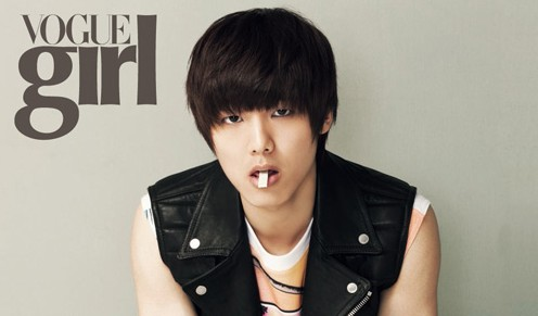 "CN Blue's Kang Min Hyuk Turns into a Bad Boy for ""Vogue Girl"""