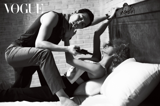 "Kim Hye Soo and Lee Jung Jae in Sexy Photo Shoot for ""Vogue Korea"""
