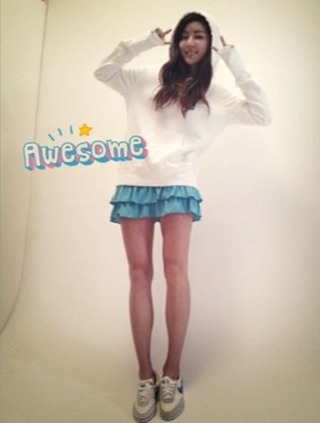 Park Han Byul Shows Off Her Long Legs