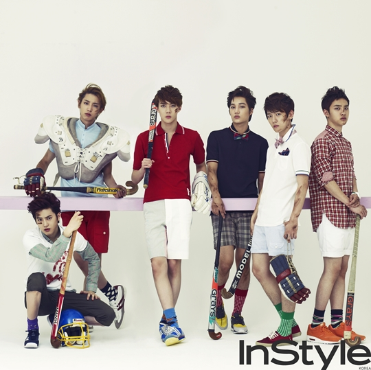 EXO-K's Hockey Concept Photoshoot for InStyle