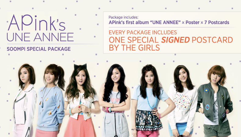 "[Soompi Shop] A Pink's ""UNE ANNEE"" Special Package!"