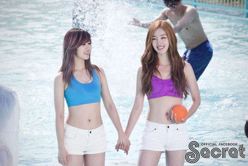 Secret Hyosung's Busty Figure Exposed by Water Balloons
