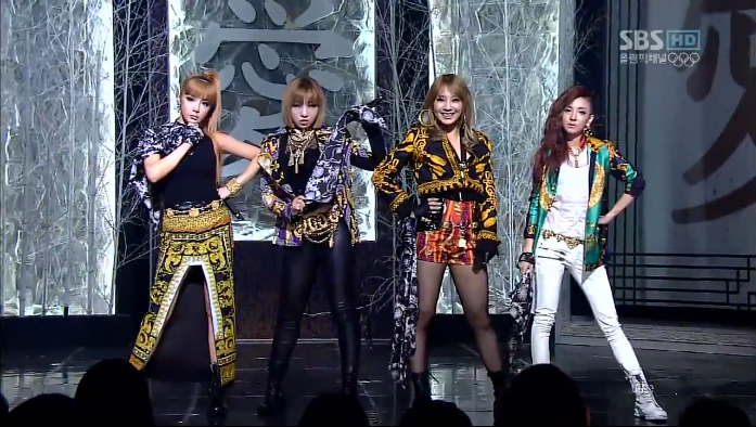 "2NE1 Performs ""I Love You"" on Inkigayo"