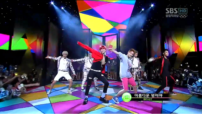 "BEAST Performs ""Beautiful Night"" on Inkigayo"