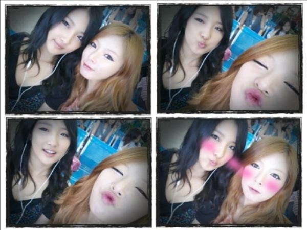 Nam Ji Hyun and HyunA Update Fans from Macao with Selcas