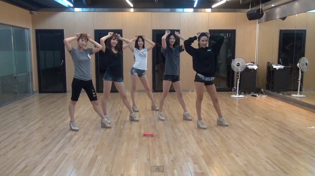 "EXID Releases Dance Practice Video for ""I Feel Good"""
