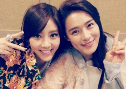 Son Dambi And Kahi Take A Friendly Photo Together