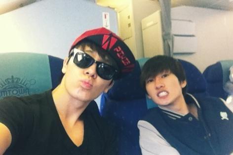 Donghae and Eunhyuk plane