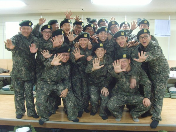 Leeteuk in the army