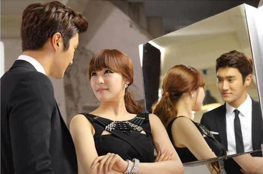 BTS Photos of Girls' Generation's Tiffany and Super Junior's Siwon Shooting a Commercial Surface