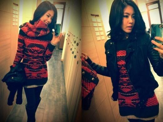 Lee Yoon Ji twitter santa girl