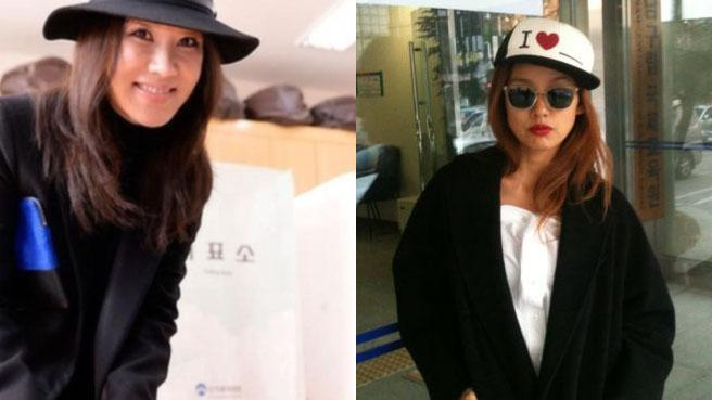 lee hyori and uhm jung hwa voting2