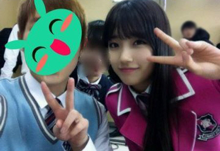 miss A's Suzy Wears A Pink School Uniform For Endorsement