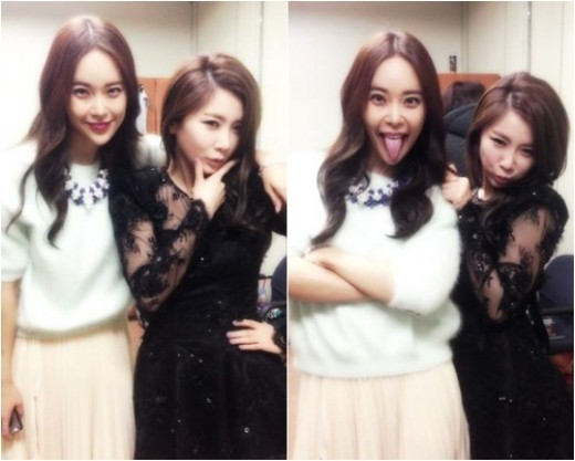 Brown Eyed Girls' JeA and Baek Ji Young Pose for the Camera