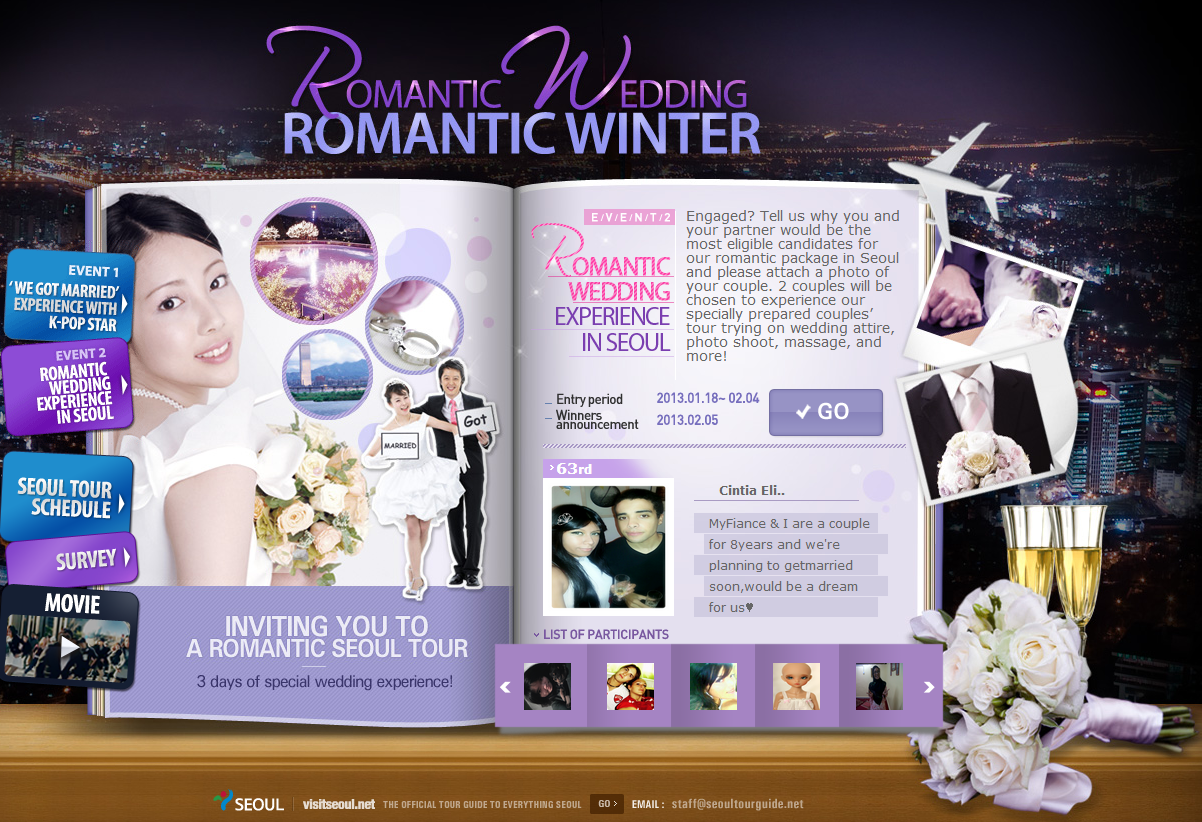 Romantic Wedding, Romantic Winter in Seoul