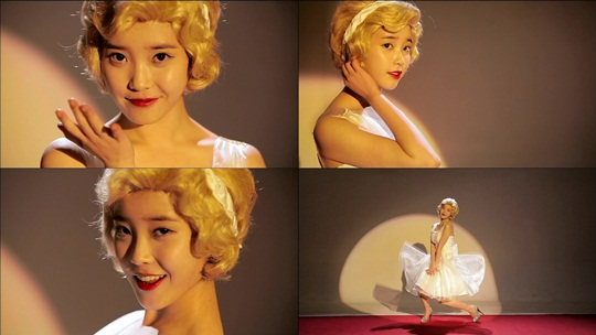 IU Transforms Into Marilyn Monroe