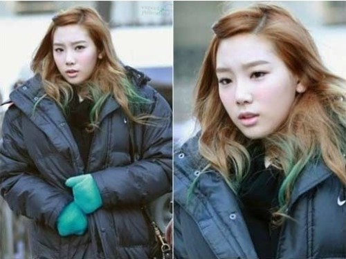 Girls' Generation's Taeyeon Frowns Adorably on Her Way to Work