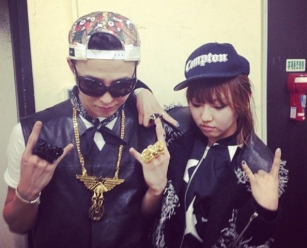 g-dragon and min instagram