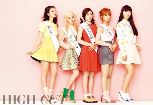 "New Group Ladies' Code Makes Debut Pictorial in ""High Cut"""
