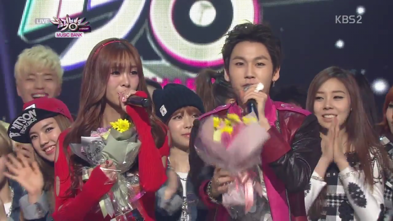 "KBS Music Bank – 03.29.13 – G.NA's ""Oops"" Wins!"