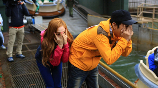 Eun Ji Won and Jessica Running Man