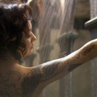 Older Actress Gets a Temporary Dragon Tattoo for New Drama