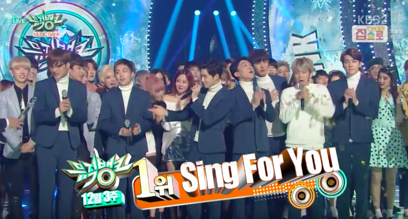 EXO Takes Domestic 1st Win With Sing for You on Music BankPerformances