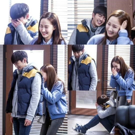 Yoo Seung Ho and Park Min Young Share a Laughing Fit Behind the Scenes of Remember