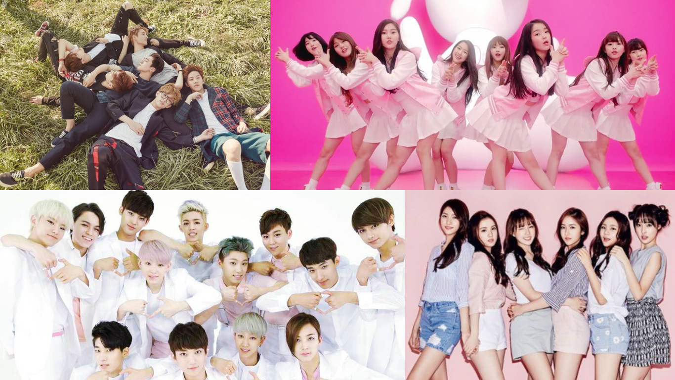 day6 gfriend oh my girl seventeen