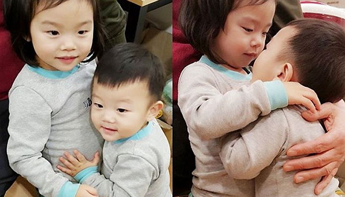 Daebak Shows Off Adorable Aegyo for His Older Sister