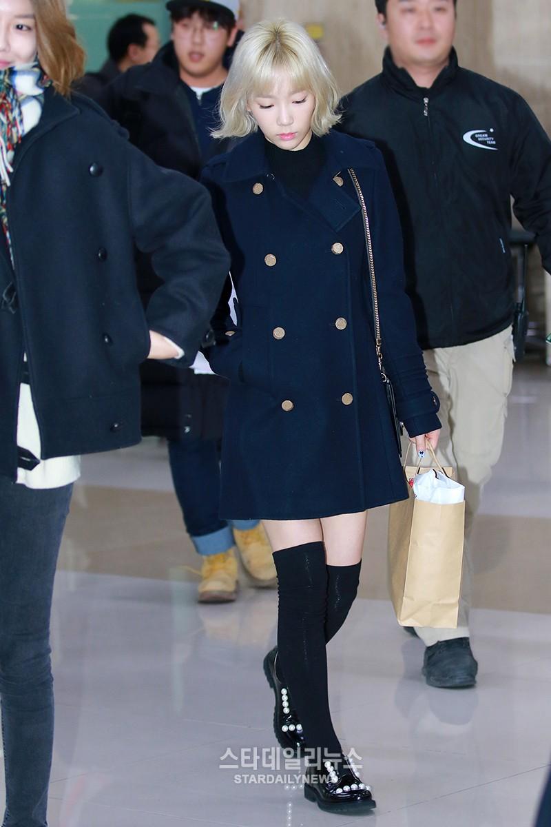 160111 taeyeon airport
