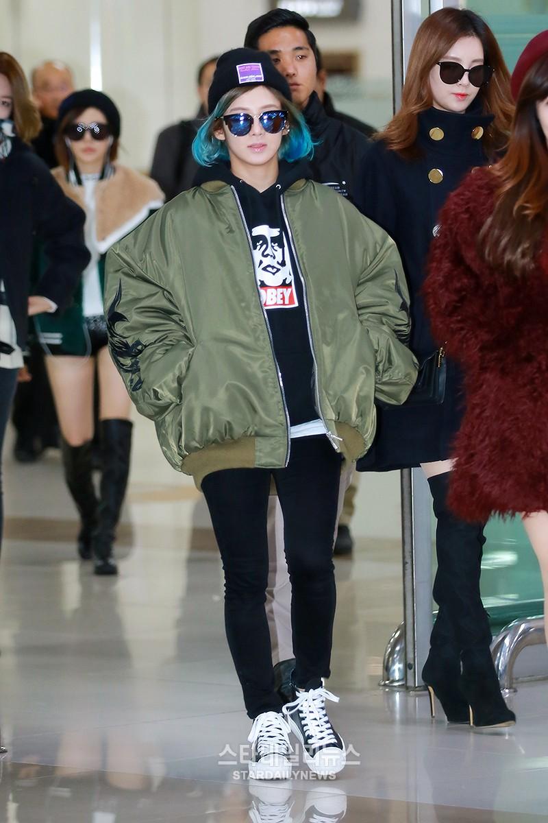160111 hyoyeon airport