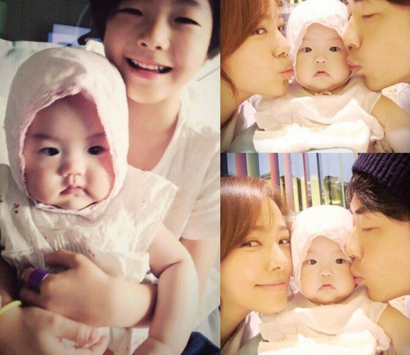 Kwon Sang Woo and Son Tae Young Celebrate Daughter Ri Hos First Birthday