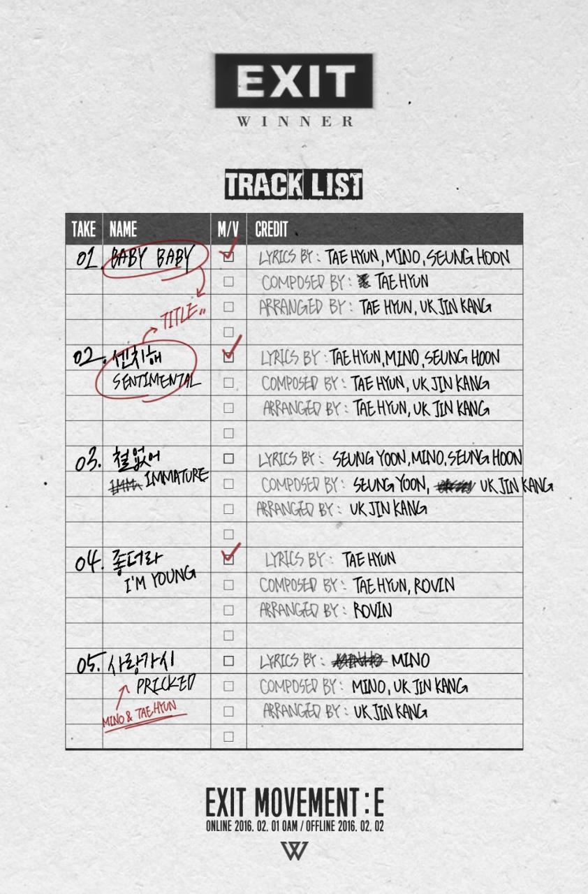 winner tracklist