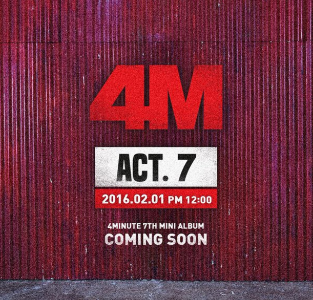 4Minute Sets Comeback Date and Drops First Teaser