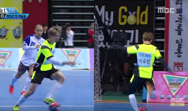 "Watch: EXO's Xiumin and VIXX's Leo Score Goals at ""2016 Idol Star Athletics Championships"""