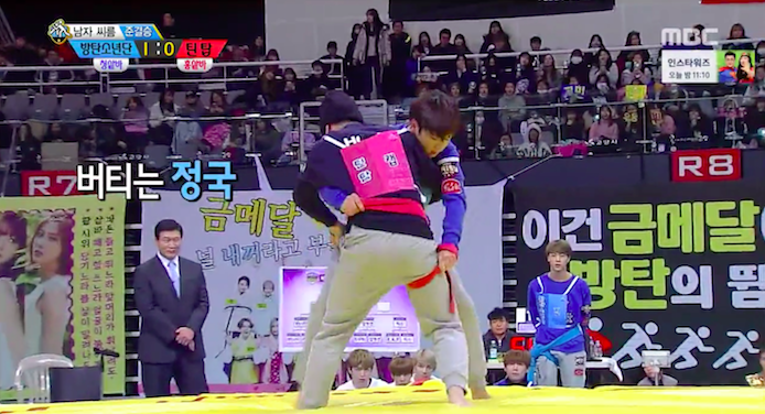 "Watch: Male Idols Show Off Strength in Wrestling Matches at ""2016 Idol Star Athletics Championships"""