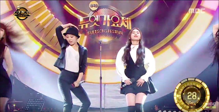 "Watch: MAMAMOO's Whee In and Rapper Hanhui Channel Their Inner Michael Jackson on ""Duet Song Festival"""