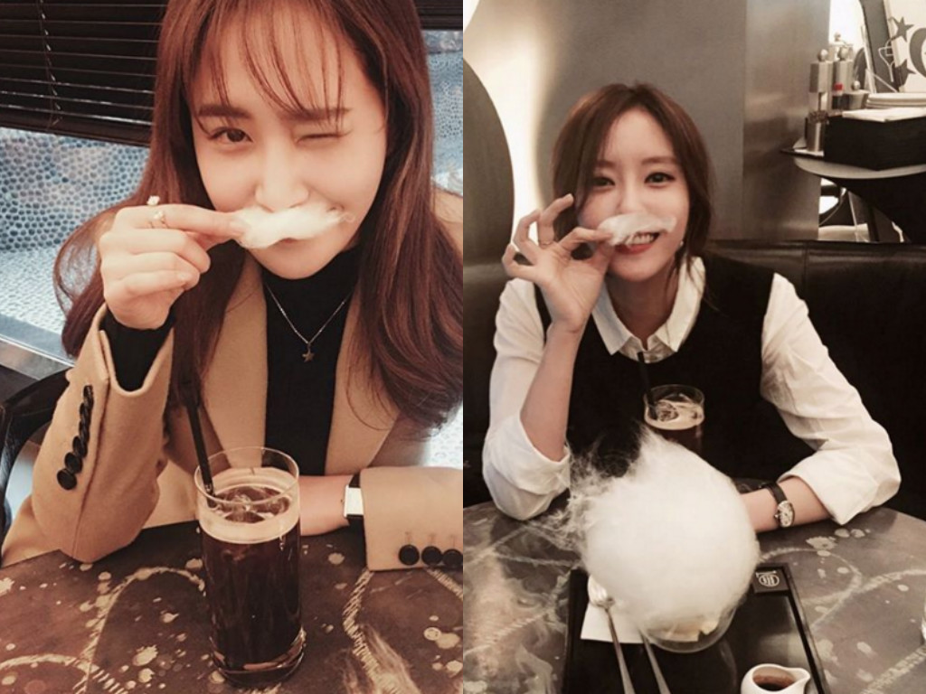 Girls' Generation's Yuri and T-ara's Hyomin Enjoy a Cotton Candy Date