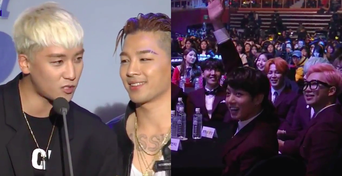 Watch: BIGBANG's Seungri Gives a Shout Out to All the Maknaes Out There at 5th Gaon Chart K-Pop Awards