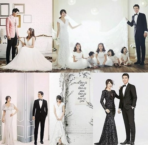 lee dong gook's family takes a wedding pictorial to