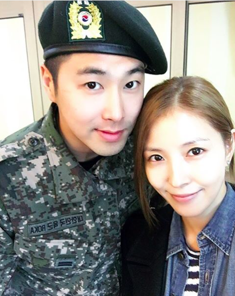 BoA Visits TVXQs Yunho in the Militia and Shows Strong Friendship