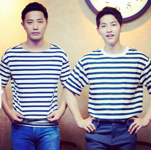 Song Joong Ki and Jin Goo Display Off Their Real Life Bromance