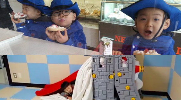 Watch: Song Triplets Have a Wonderful Time Hiding From Song Il Gook in Fort in Instagram Video