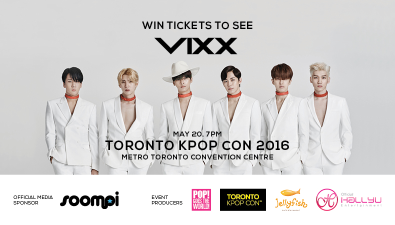 Giveaway: Win a bet to See VIXX Live in Canada During Toronto Kpop Con!