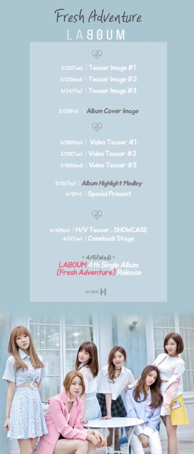 laboum fresh adventure schedule