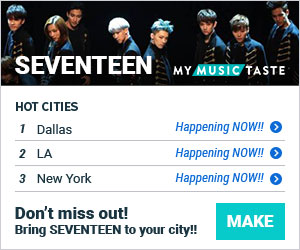 soompi_seventeen_topcities my music taste